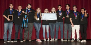 Elsinore High School Academic Decathlon Team  First Place Winners foor 2017.