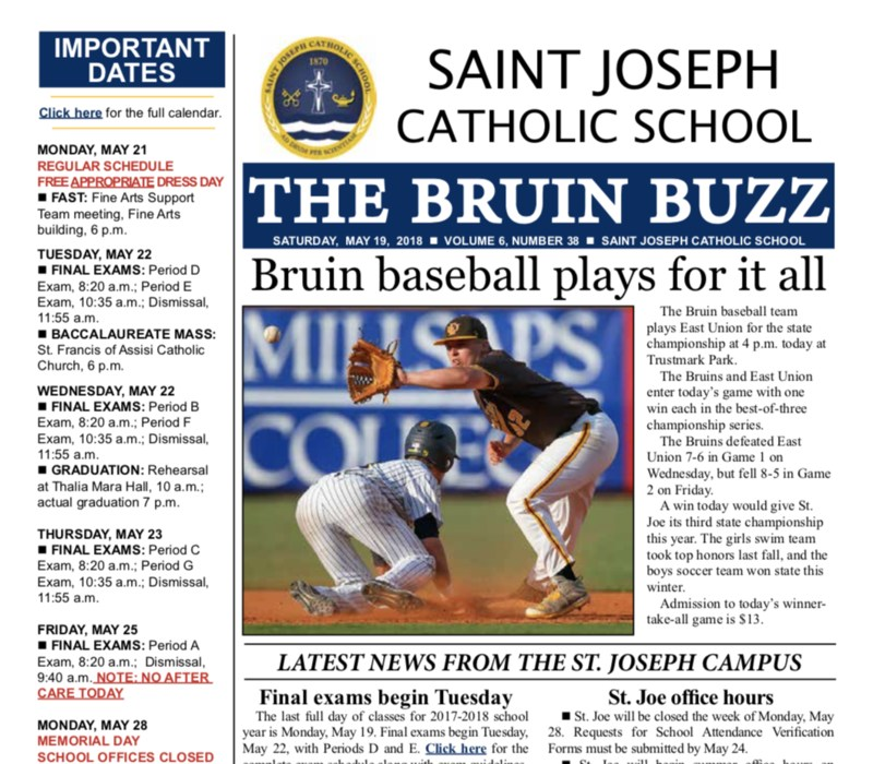 THE BRUIN BUZZ: SATURDAY, MAY 19 Thumbnail Image
