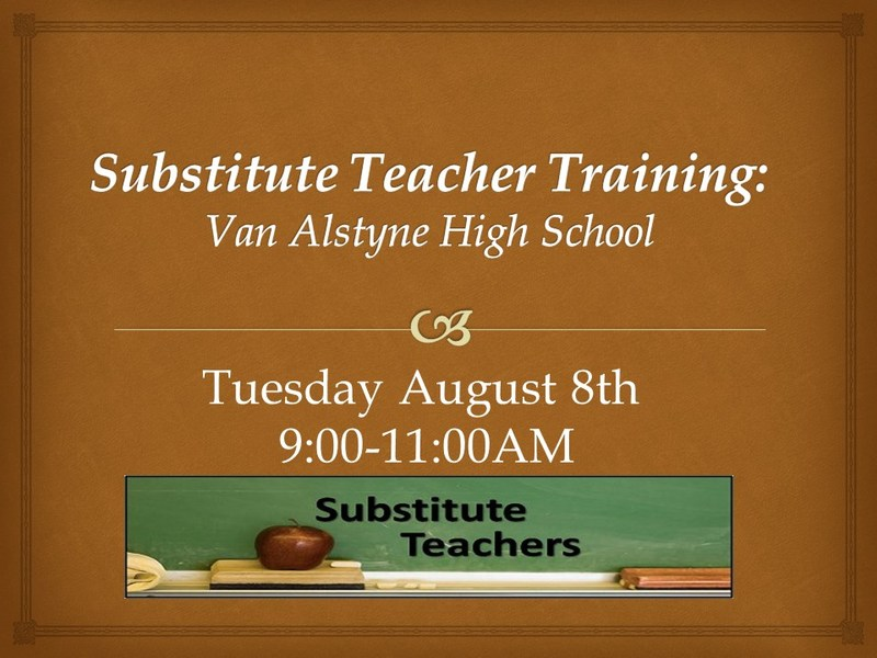 Substitute Orientation Thumbnail Image