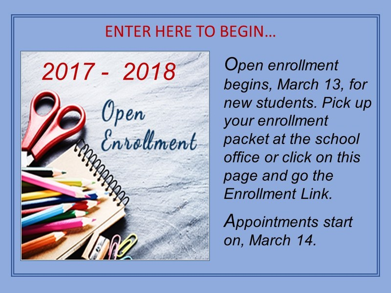 2017 - 2018 Open Enrollment Begins March 13, for NEW STUDENTS Featured Photo
