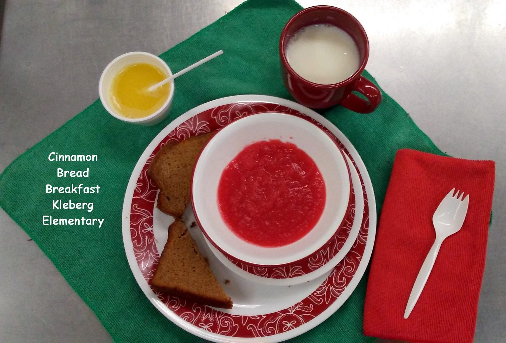 Cinnamon Bread Breakfast Kleberg Elementary