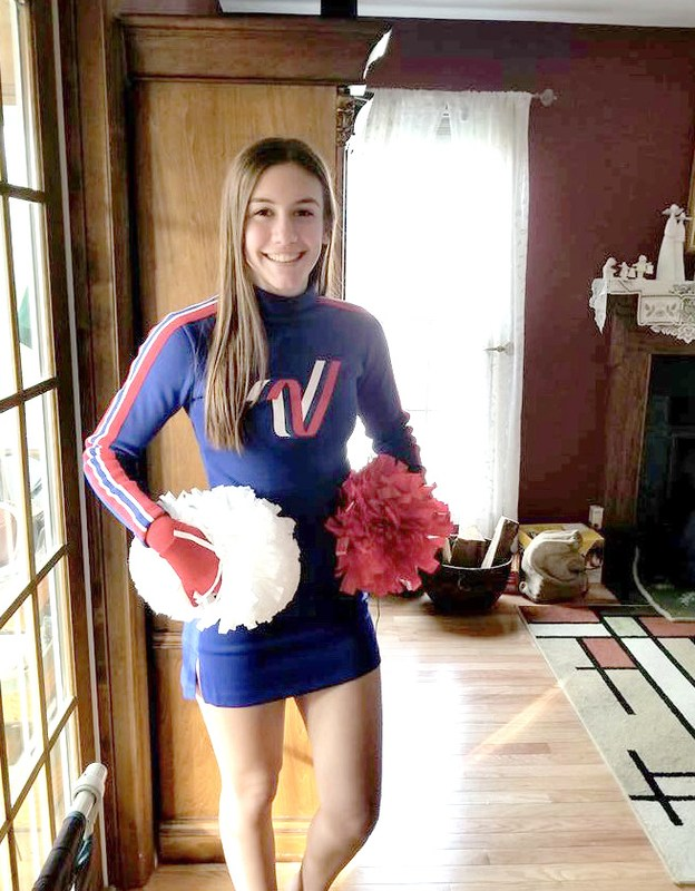 PJ Cheerleader Noelle Newman poses for picture