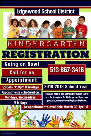 Kindergarten Registration Only Flyer