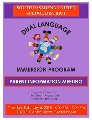 Dual Immersion Informational Flyer