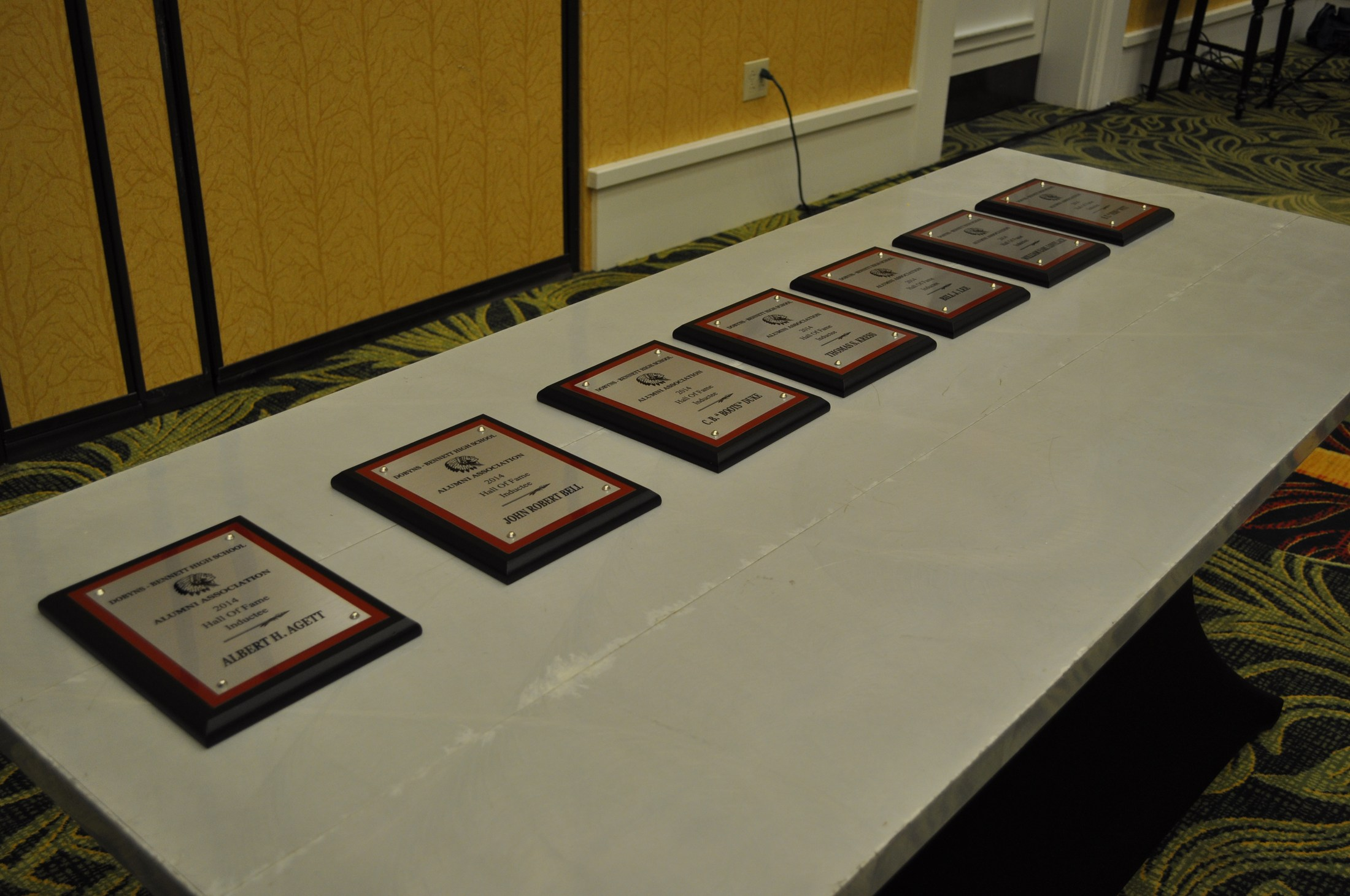 Class of 2014 Plaques