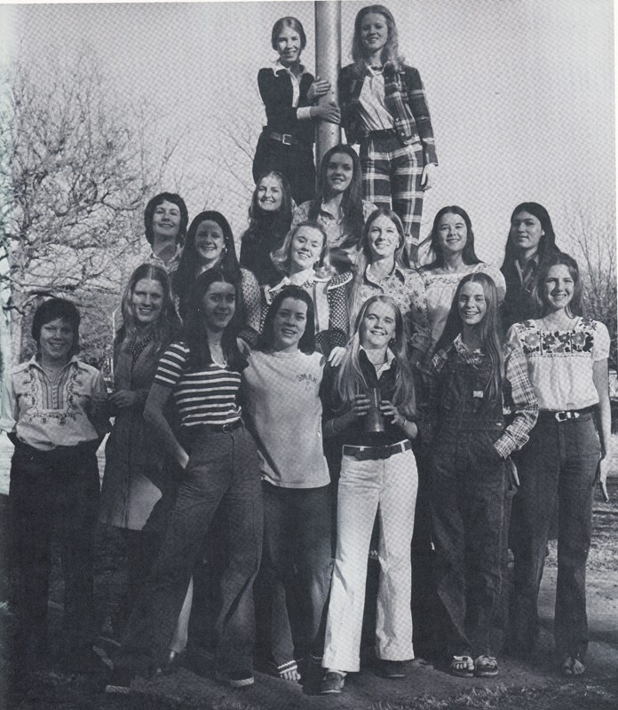 Girls at HPHS were allowed to wear long pants in 1975