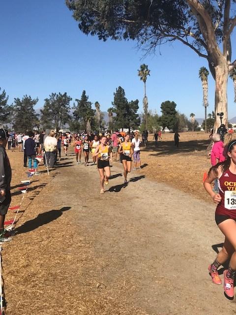 Girls running at CIF Finals.