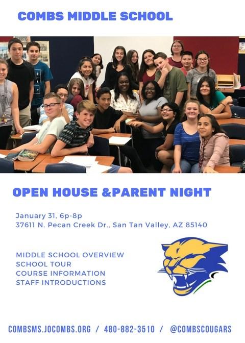 6th Grade Open House Flyer