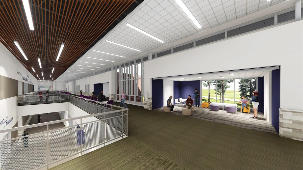 Interior render of the CTE Building
