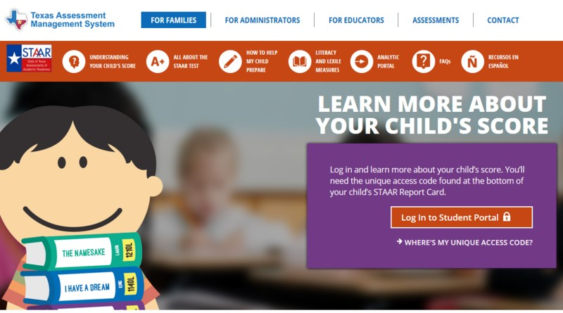Access Your Child's STAAR Score Report Thumbnail Image