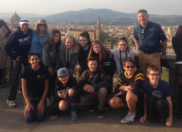 Students with city of Florence in background