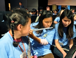 Amy Wang with students.jpg