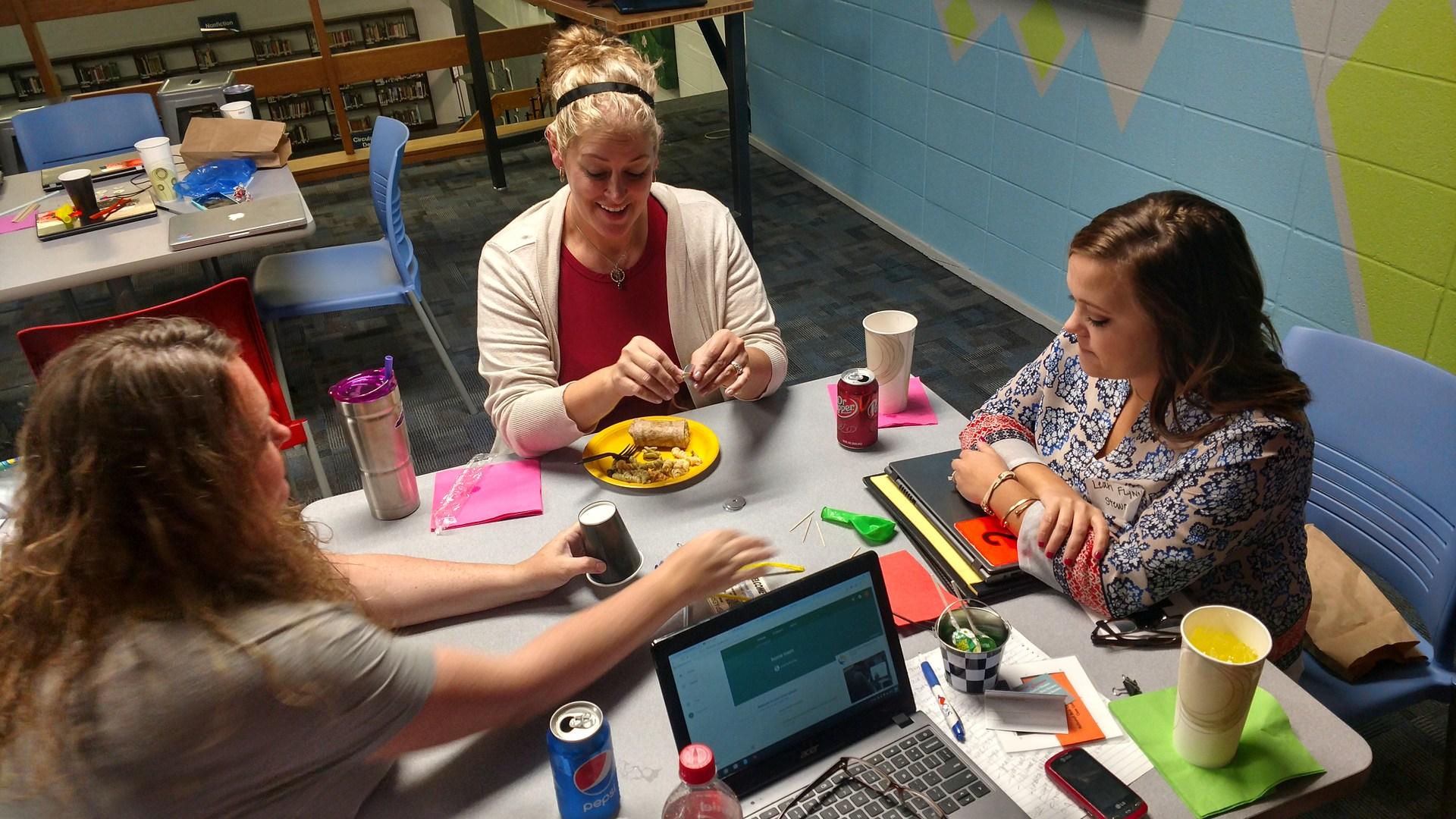 Beginning Teachers work on group activity