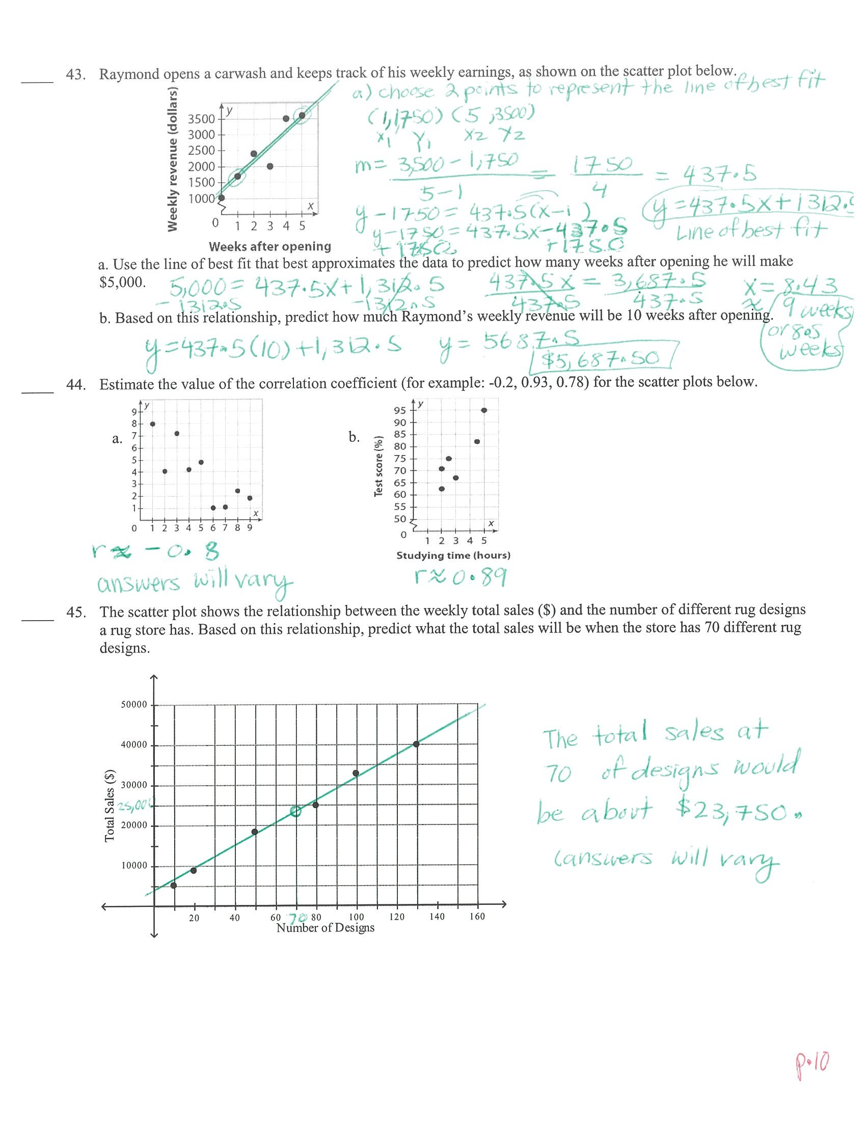 Writing Linear Equations Module Quiz D Answers Tessshebaylo – Writing Linear Equations Worksheet