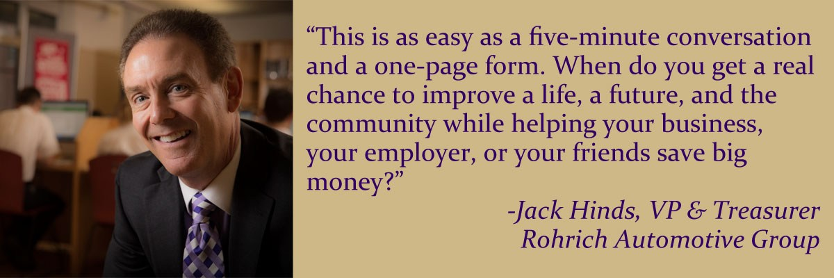 Quote from Jack Hinds, board member and EITC contributor
