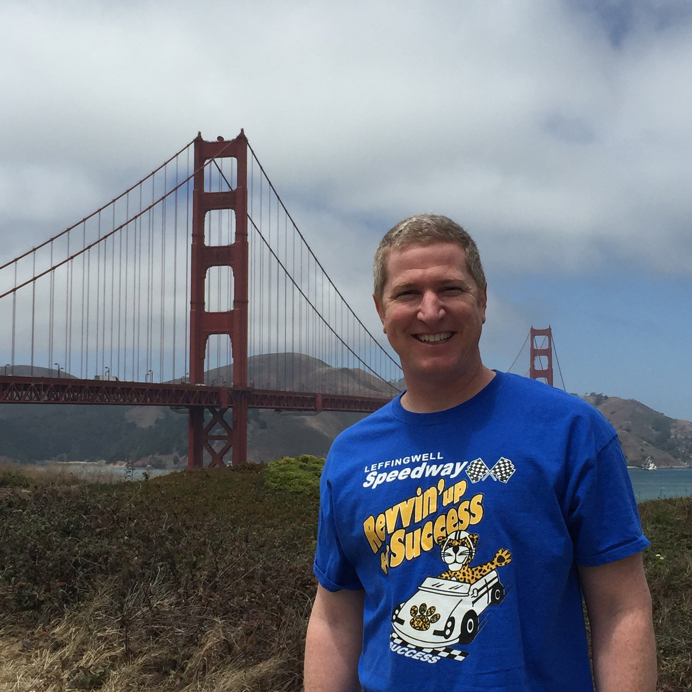 Dr. Blackwell at the Golden Gate Bridge