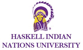 Haskell Indian Nations University logo image links to Haskell Indian Nations University Our Legacy page