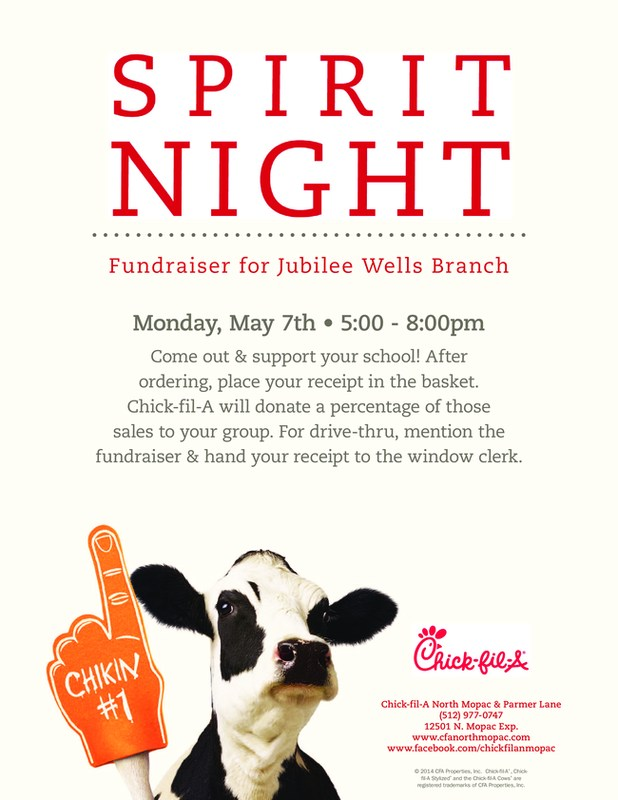 Spirit Night @ Chick-fil-A - 12501 N. Mopac Exp. Featured Photo