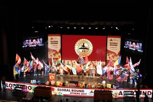 Photo of Closing Ceremonies at World Scholar's Cup competition in Athens, Greece
