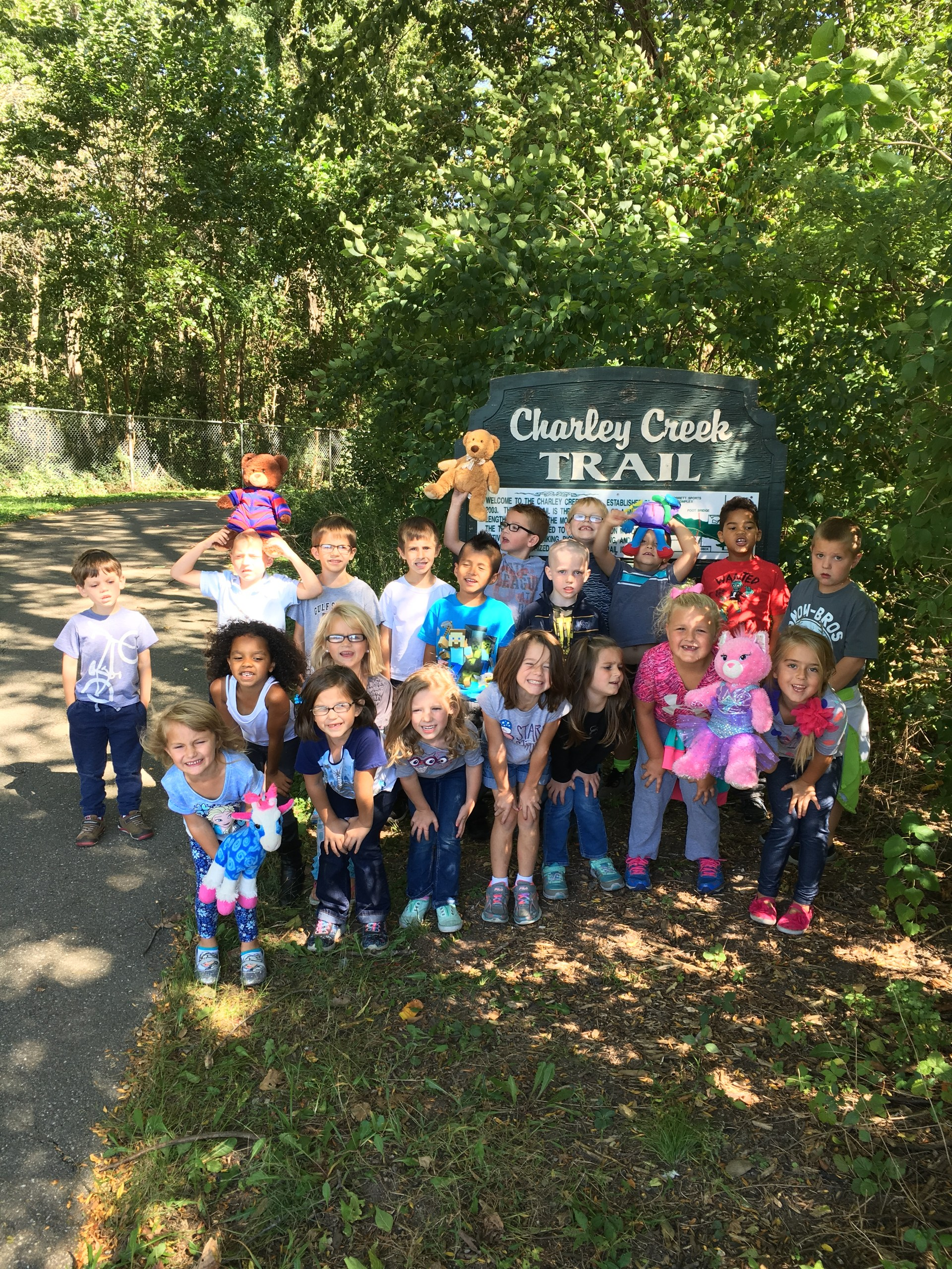 Students at Charley Creek Trail.