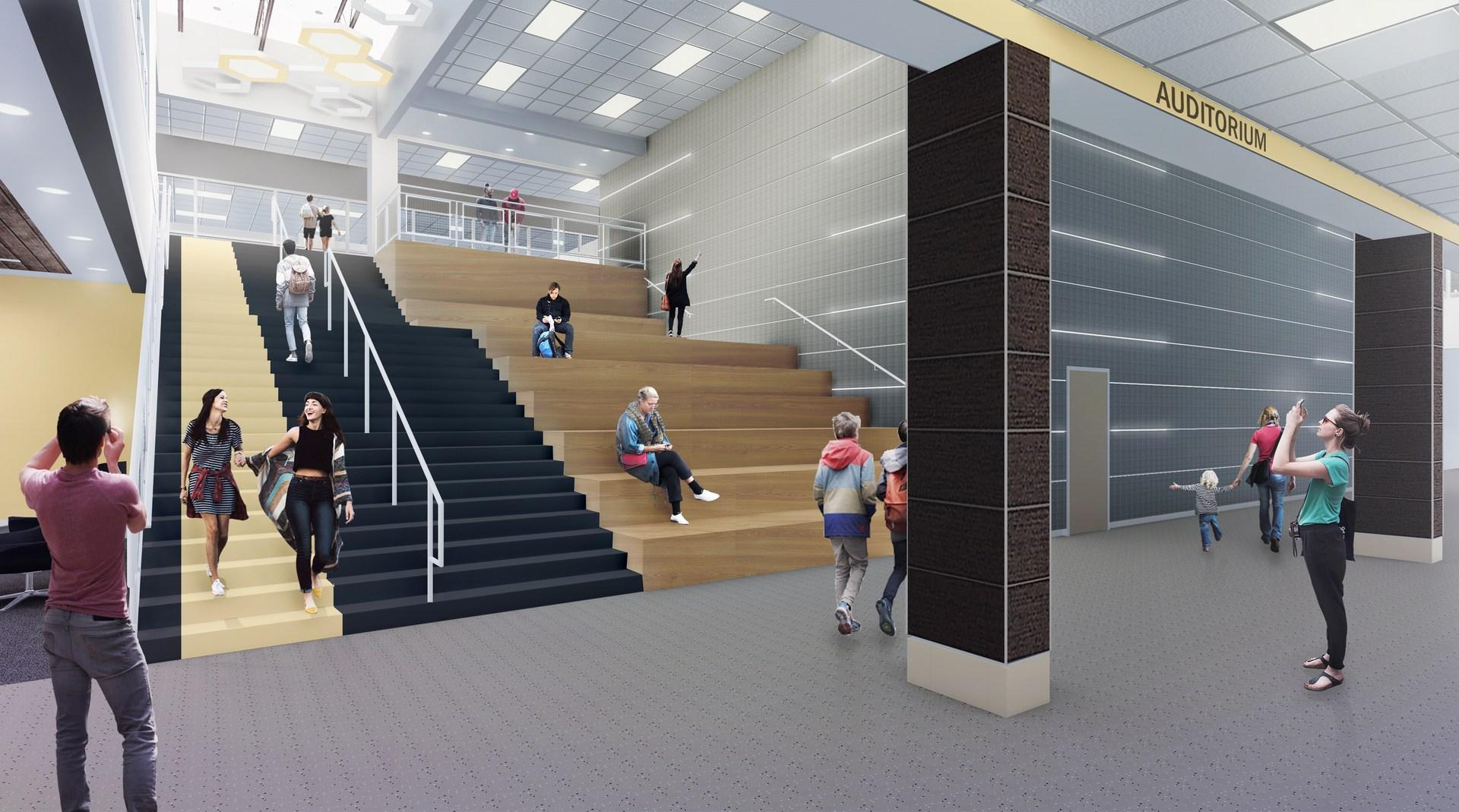 Stairway at Cleburne High School