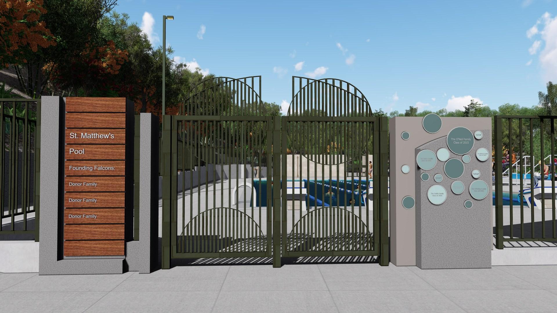 St. Matthew's Pool Entry Gate