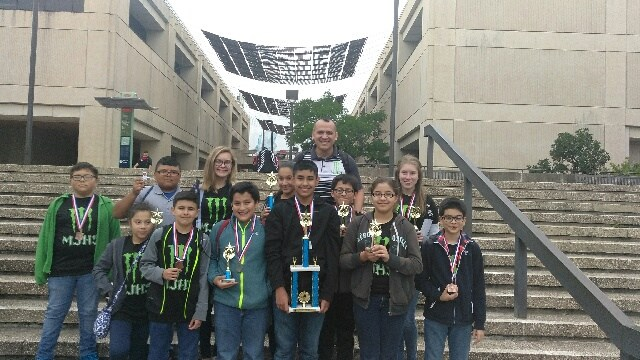 Calculator Team takes 2nd Place in TMSCA Championship State Meet at UTSA on April 22nd, 2017.