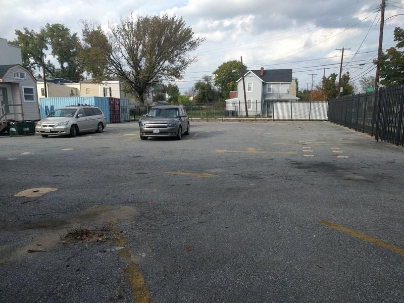 asphalt lot behind IDEA