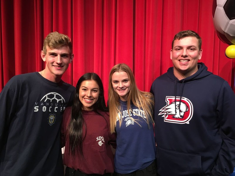 Four Liberty High seniors sign athletic letters of intent Thumbnail Image