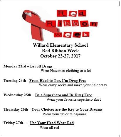 RED RIBBON WEEK! OCT 23rd-27th Thumbnail Image