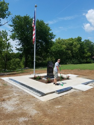 Tony Malleck and his Eagle Scout project monument