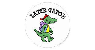 aligator with backpack
