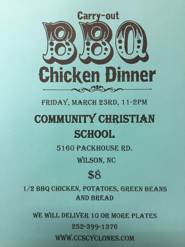 CCS Chicken Plate Fundraiser - Friday March 23 - Thumbnail Image