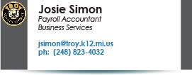 Josie Simon, jsimon@troy.k12.mi.us.