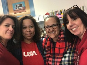 roosevelt staff  participating in patriots day