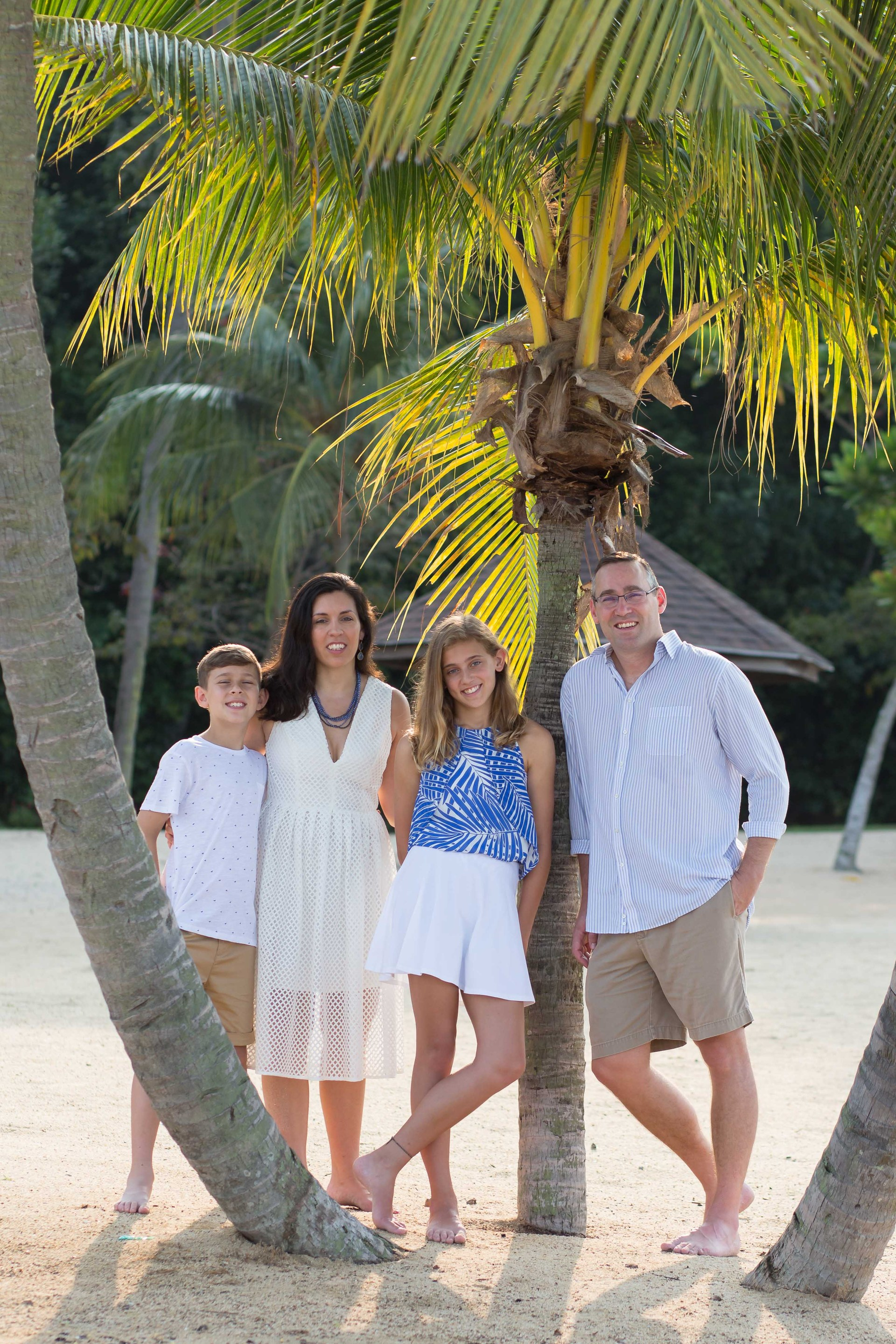 My family on the beach in Singapore.