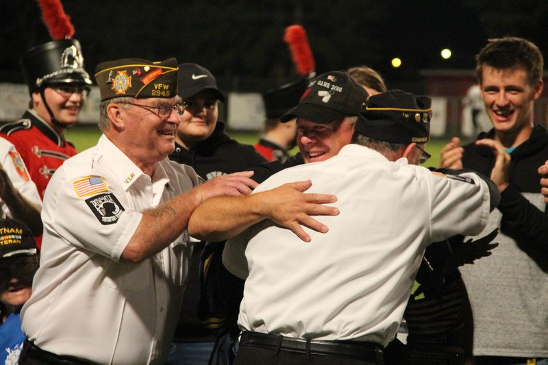 Mr. Lasecki and students honored at Military Appreciation Game, Friday, Sept. 15 Featured Photo