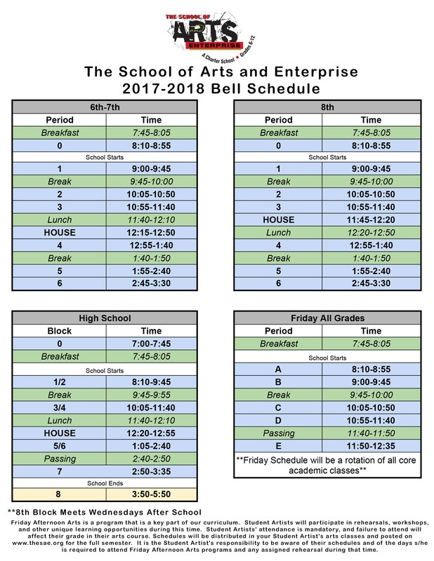 2017-2018 Bell Schedule Featured Photo