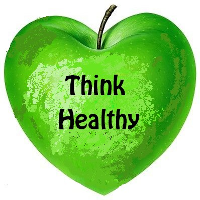 Think Healthy written on green apple