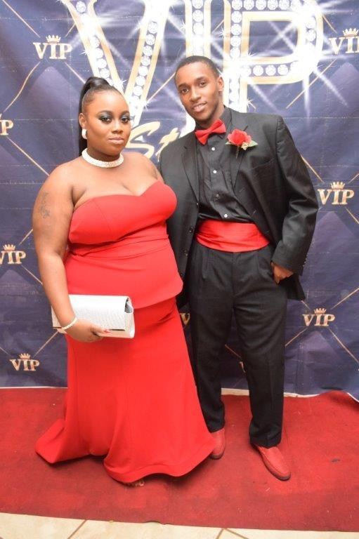 Student arrive for their first prom at Invictus High school Cleveland
