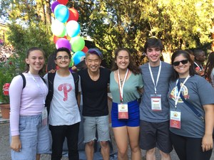 Photo of 2018 World Scholar's Cup Students in Athens with Organizers