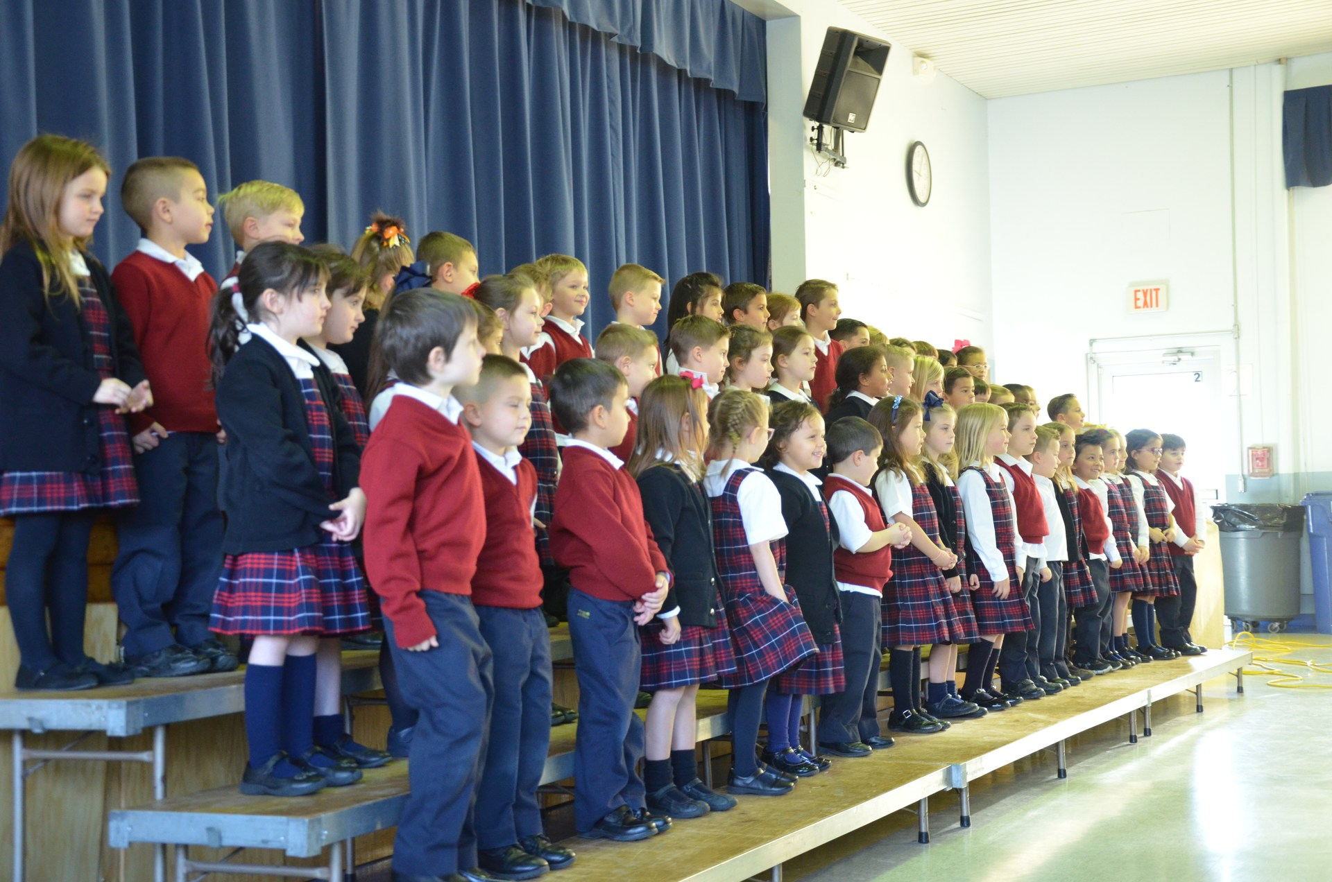 Students get ready to sing another song at concert