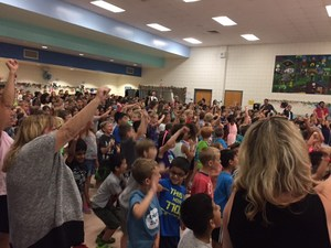 Thornton Creek students get the word -- they are a Lighthouse School.