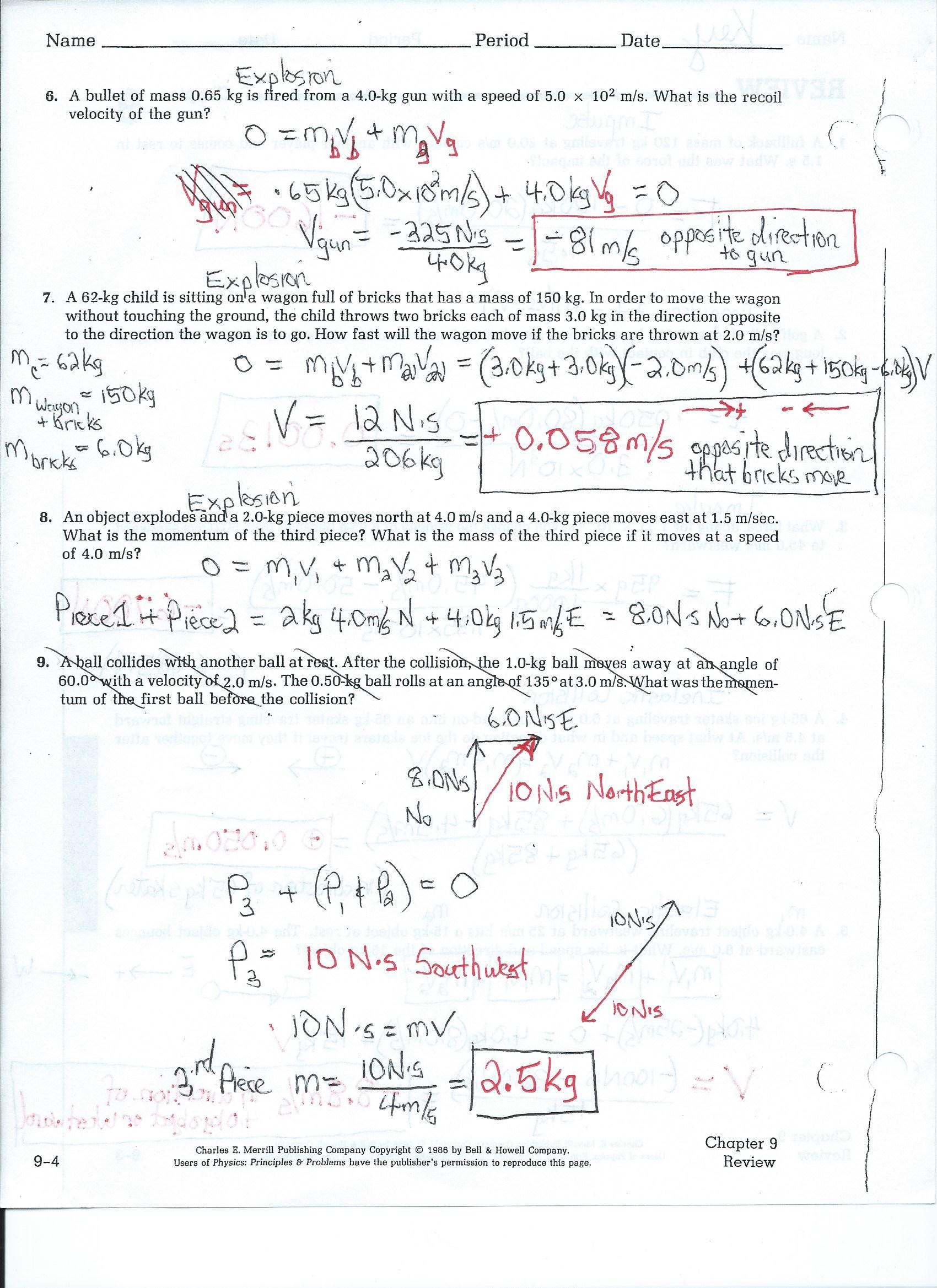 worksheet Conceptual Physics Worksheets south pasadena high school chp 7 review worksheet answers page 2 jpg