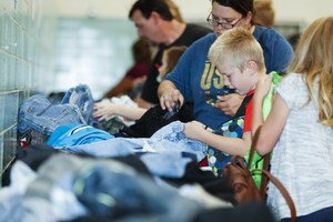 Students and families at the Back-To-School Closet (Photos by Shanz Leonelli)
