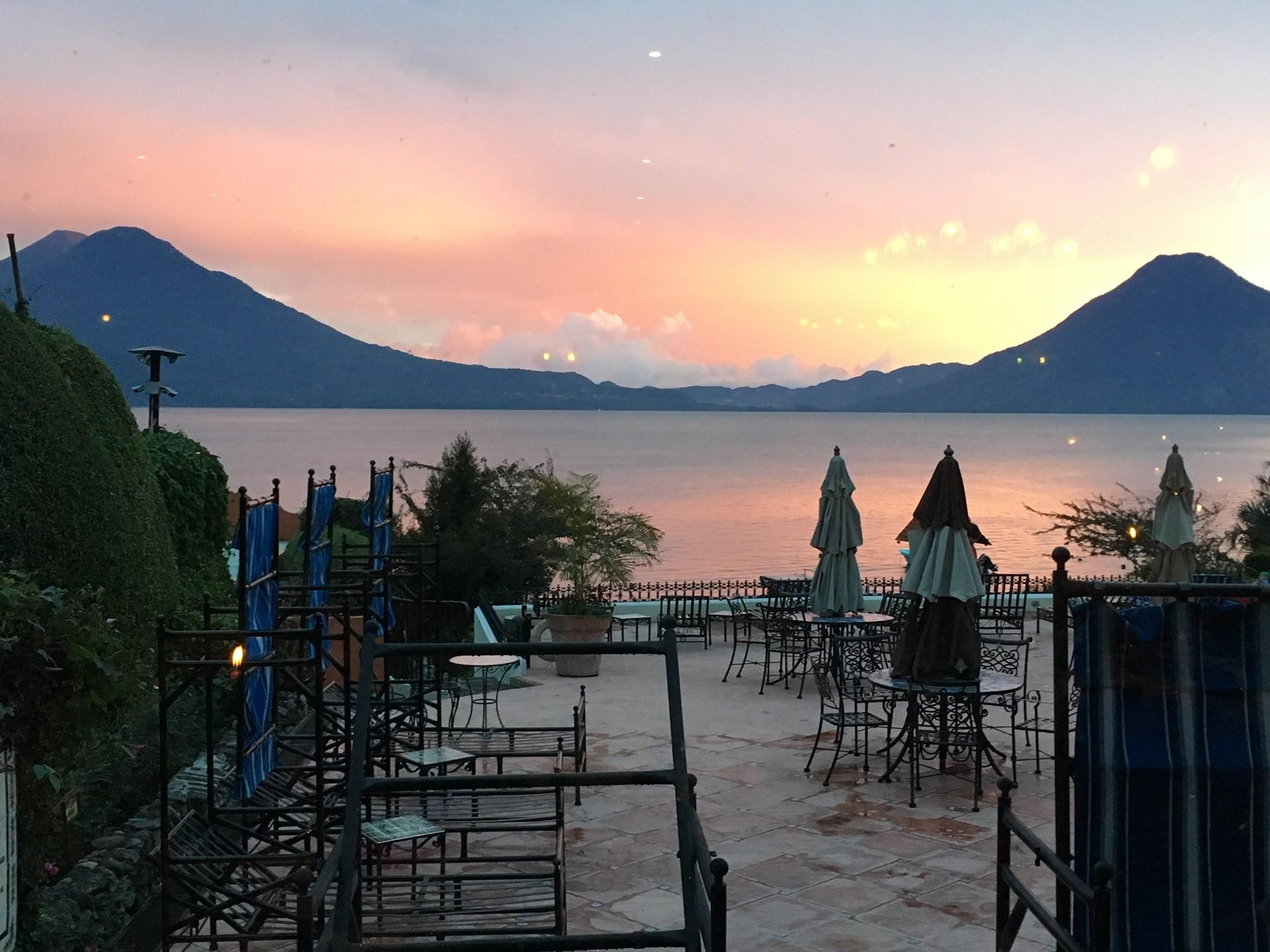 Toliman and San Pedro Volcanoes-Lake Atitlan, Guatemala
