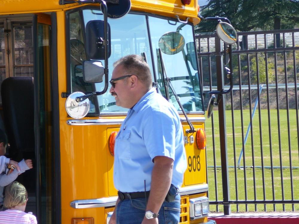 Art Lozano Evacuating Students in Practice Drill