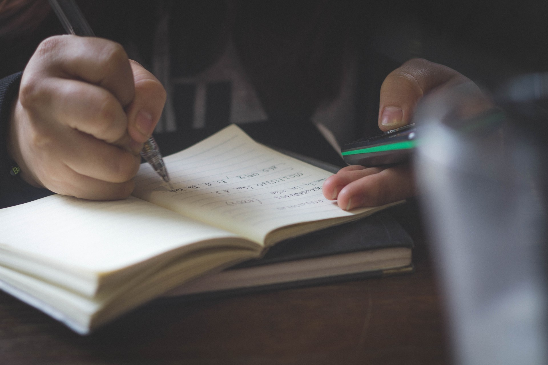 Student doing math.