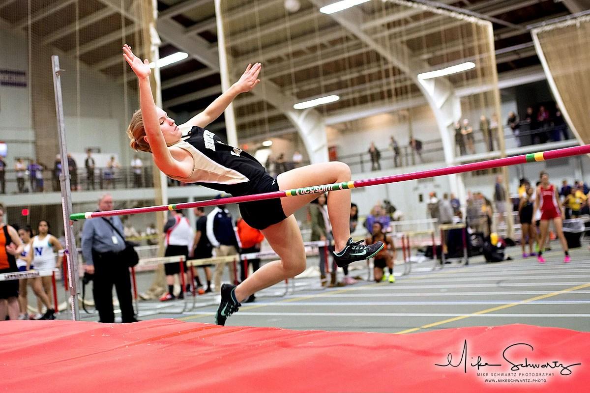 CHS girls high jumper clears the bar