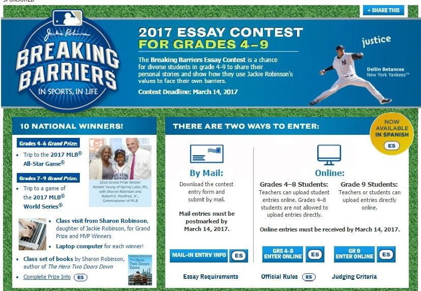 breaking barriers essay contest scholastic